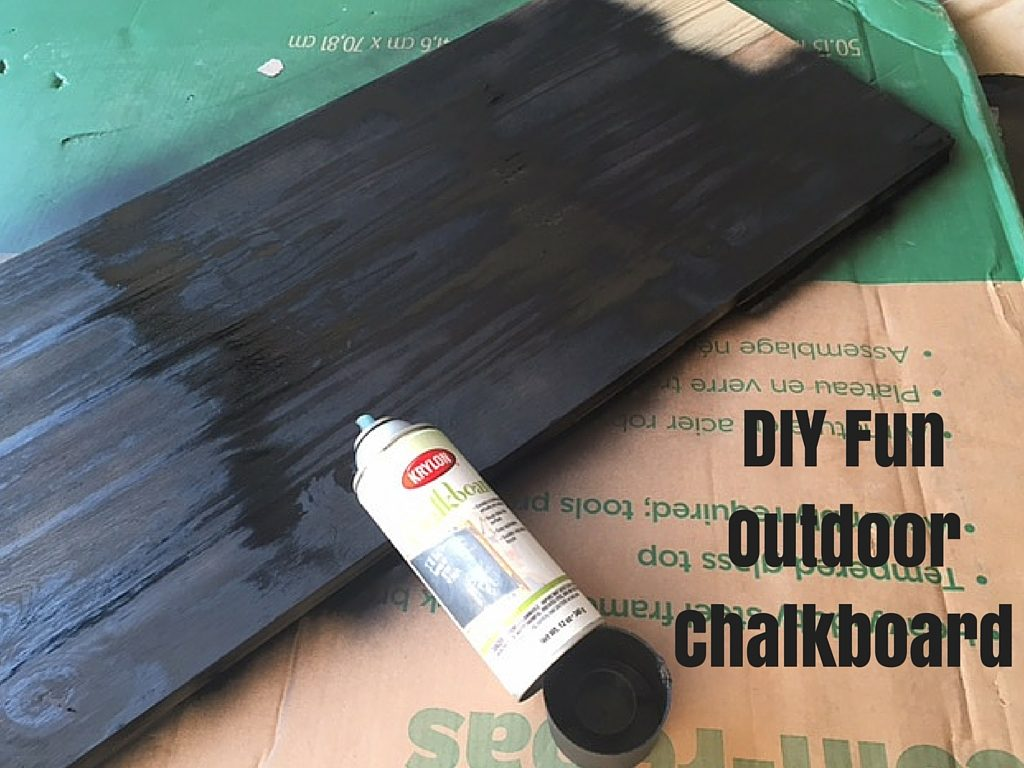 DIY FunOutdoorChalkboard